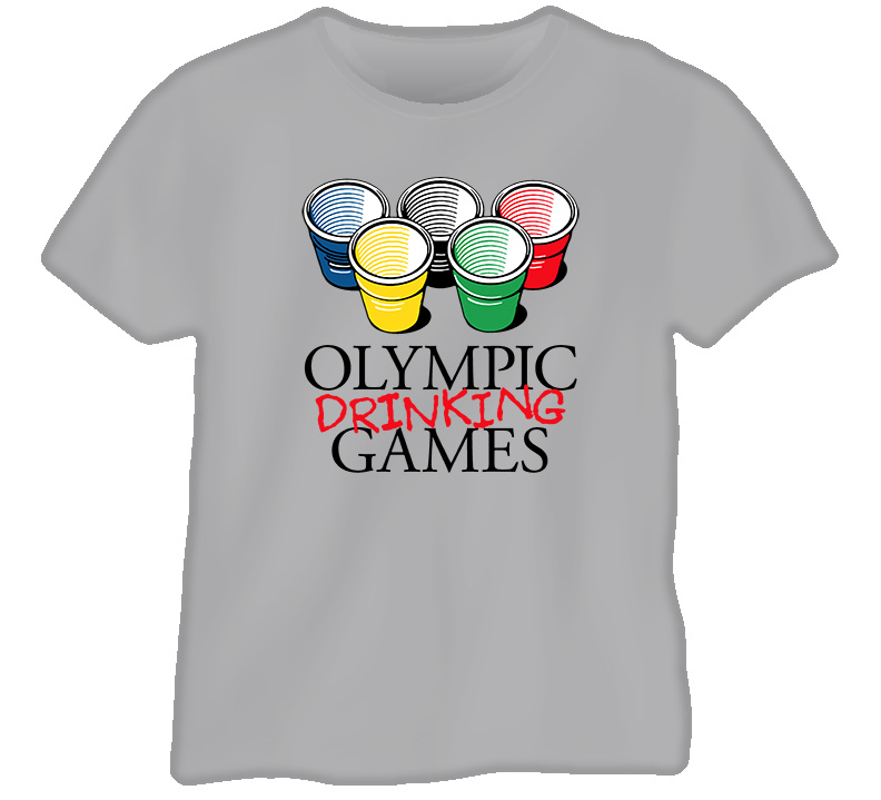 College Olympic Drinking Games T Shirt