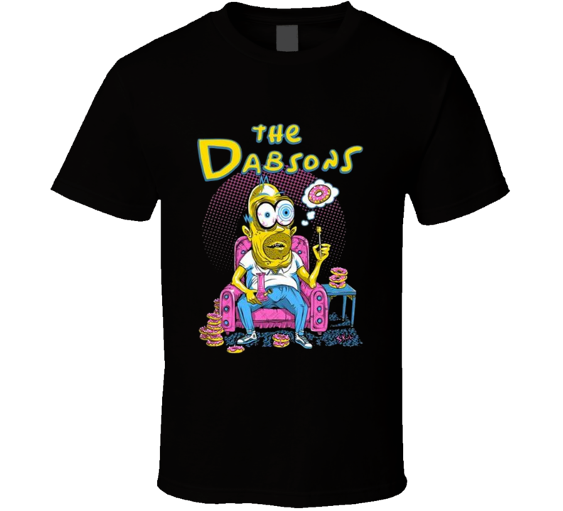 The Dabsons Cannabis Dab 420 Funny Homer Simpson T Shirt