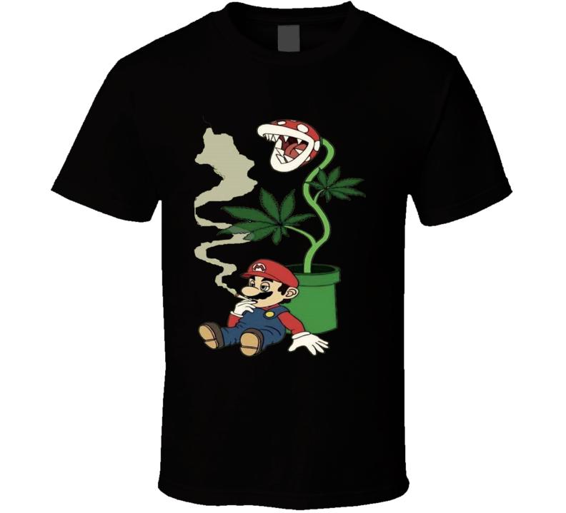 Super Mario Cannabis 420 Weed Shirt