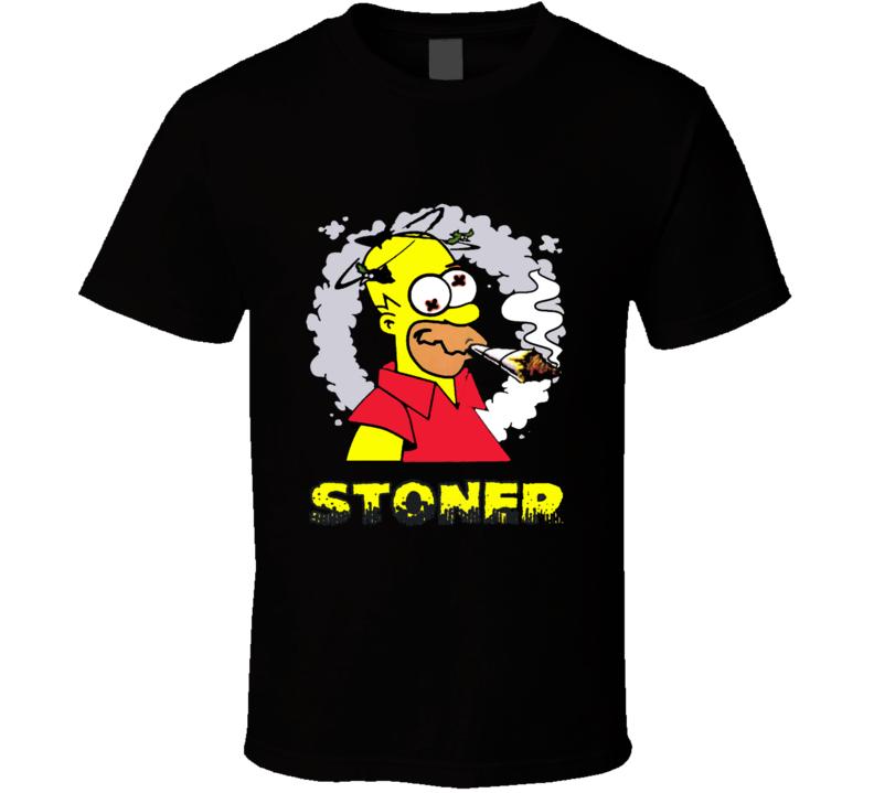 Homer Simpson Funny Stoner Simpson 420 Cannabis Weed Shirt