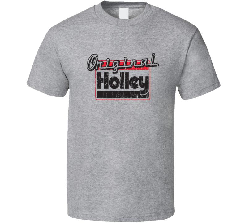 Distressed Holley LogoPerformance  Carburetors Muscle Car T Shirt