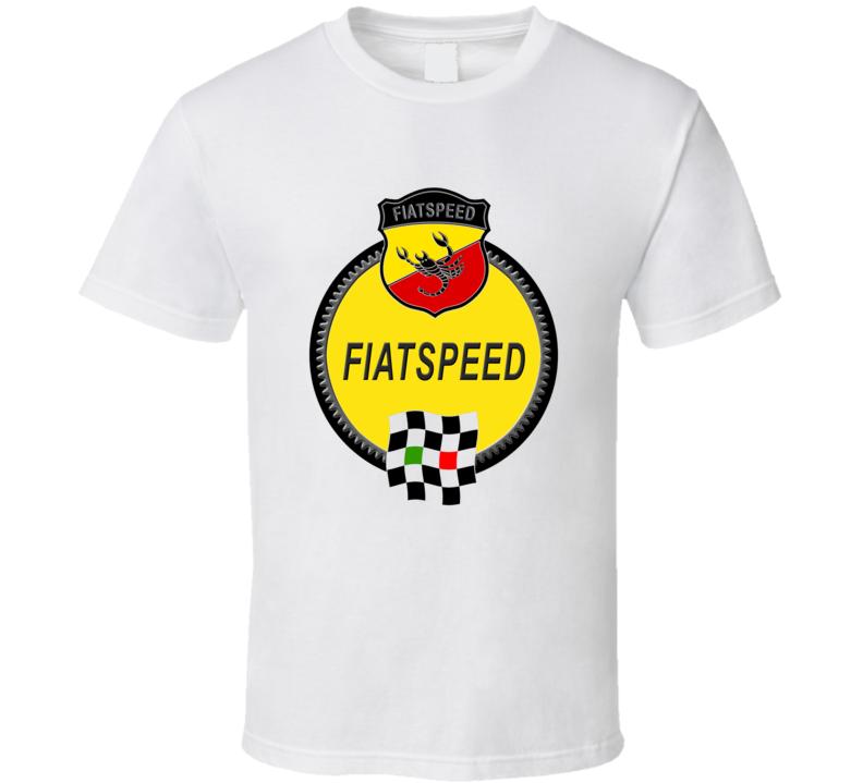 Fiat Speed Abarth Race Flag Logo T Shirt