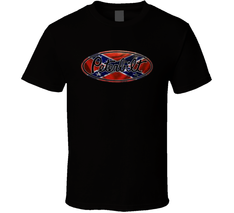 Peterbilt Transport Truck Logistics Rebel Confederation Logo T Shirt
