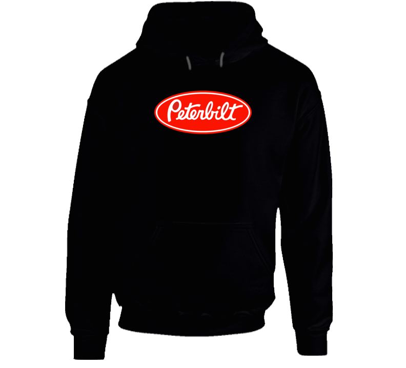 Peterbilt Transport Truck Logistics Logo Hooded Pullover Hoodie