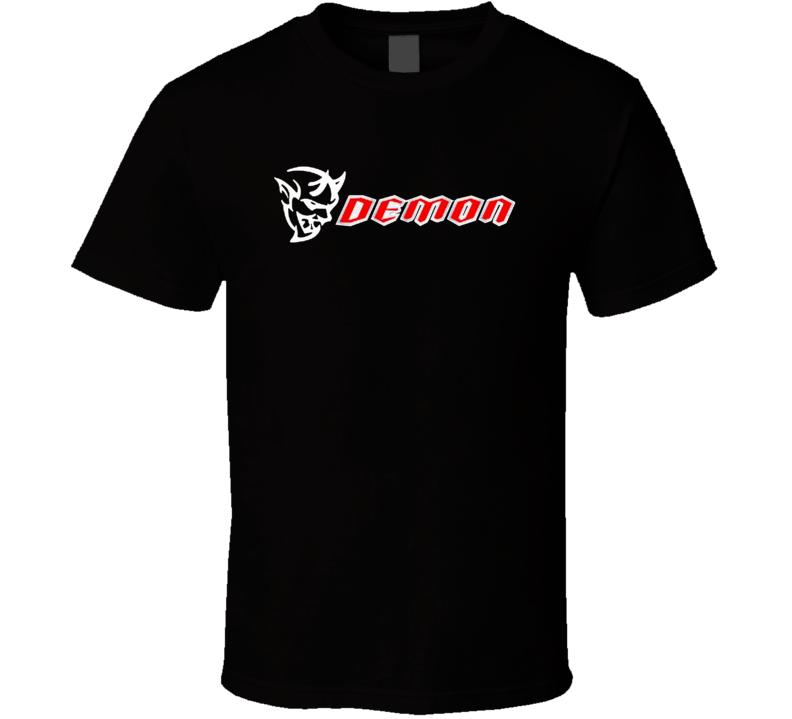 Dodge Demon Challenger Srt 2017 New Muscle Car Logo Black T Shirt