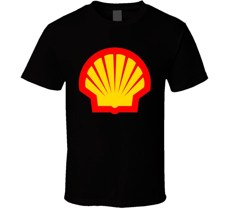 Shell Oil Gas Station Company Logo T Shirt