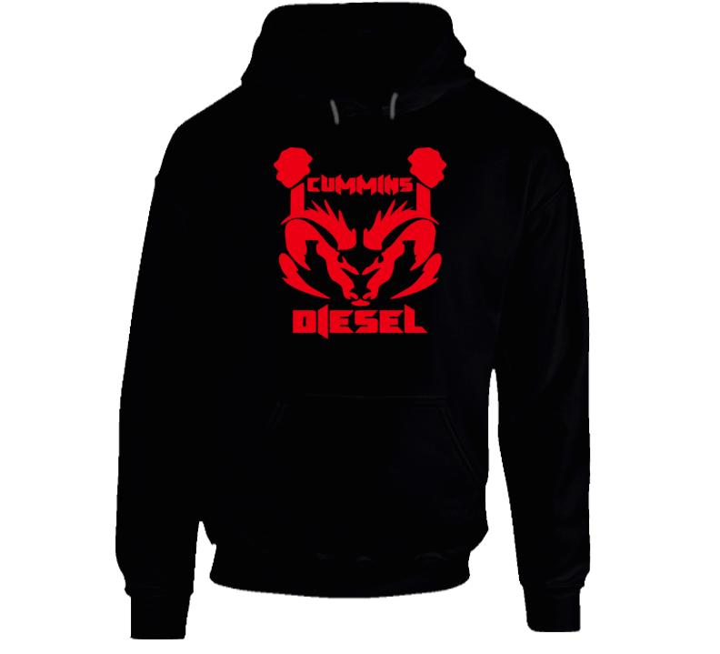 Cummins Diesel Dodge Ram Truck Logo Hooded Pullover Hoodie