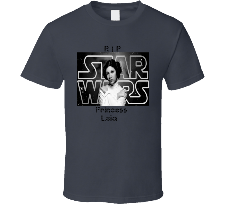 Princess Leia Star Wars Rip Carrie Fisher T Shirt