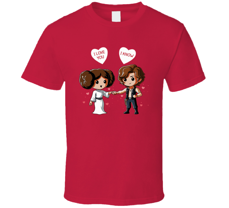 Princess Leia Star Wars Valentine Day Han Solo T Shirt