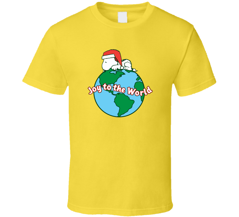 Joy to the world Snoopy  T Shirt
