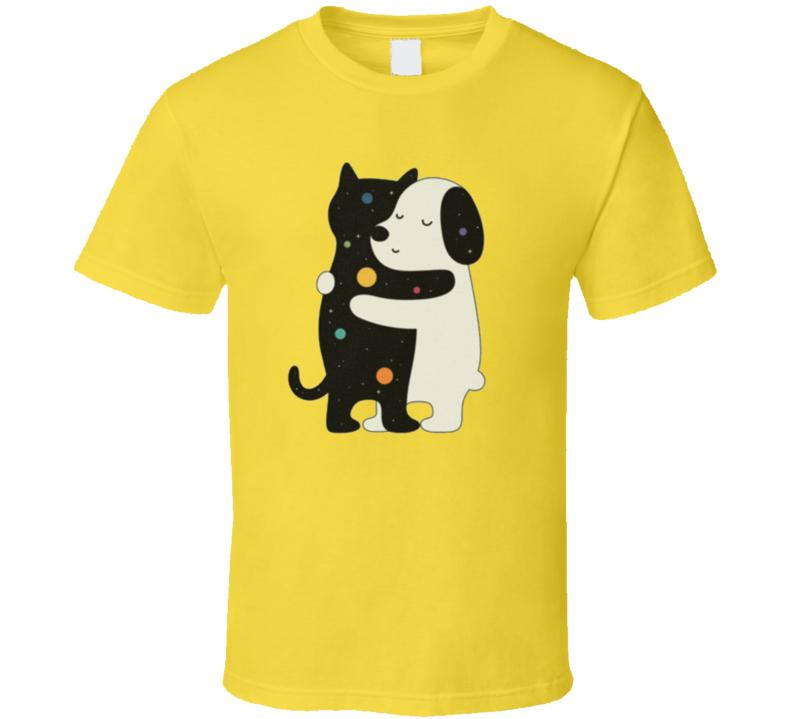 Dog Cat Hugging Best Friends T Shirt