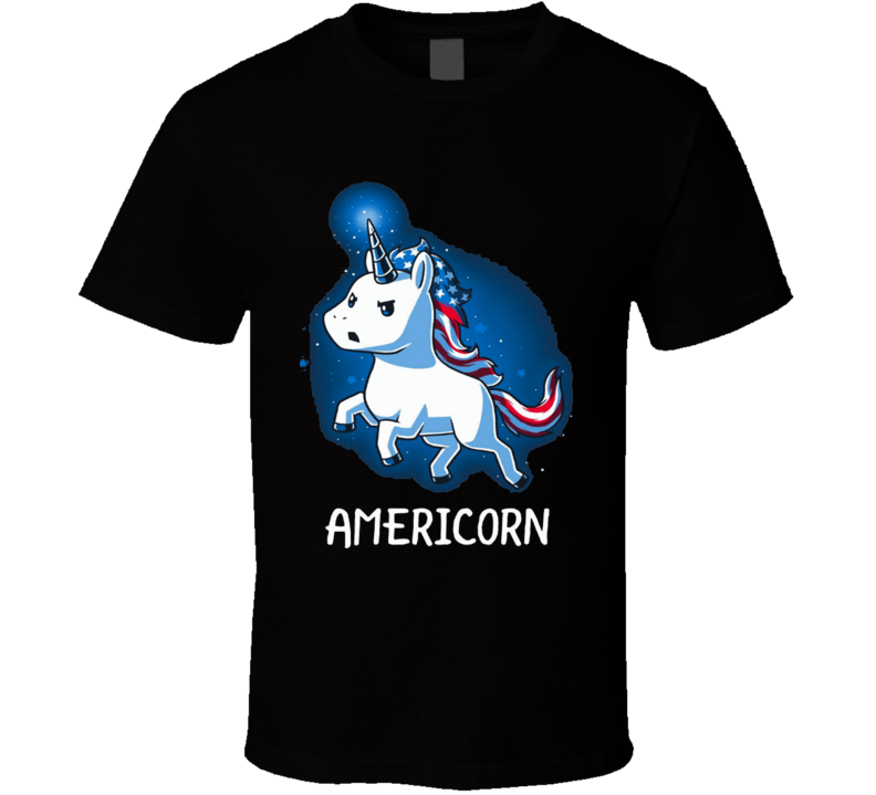 Americorn Ponny Horsey White horse American T Shirt