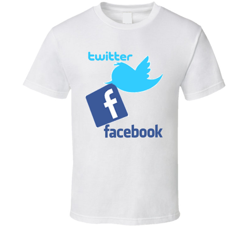 Twitter Facebook Together T Shirt