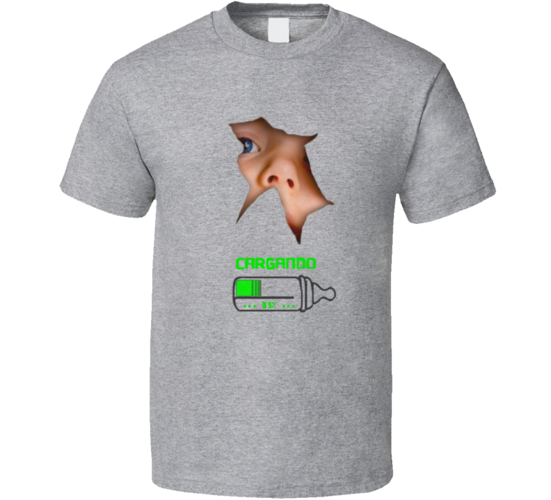 Cargando Embarazada Embarazo Mujer Baby Bebe Biberon  T Shirt