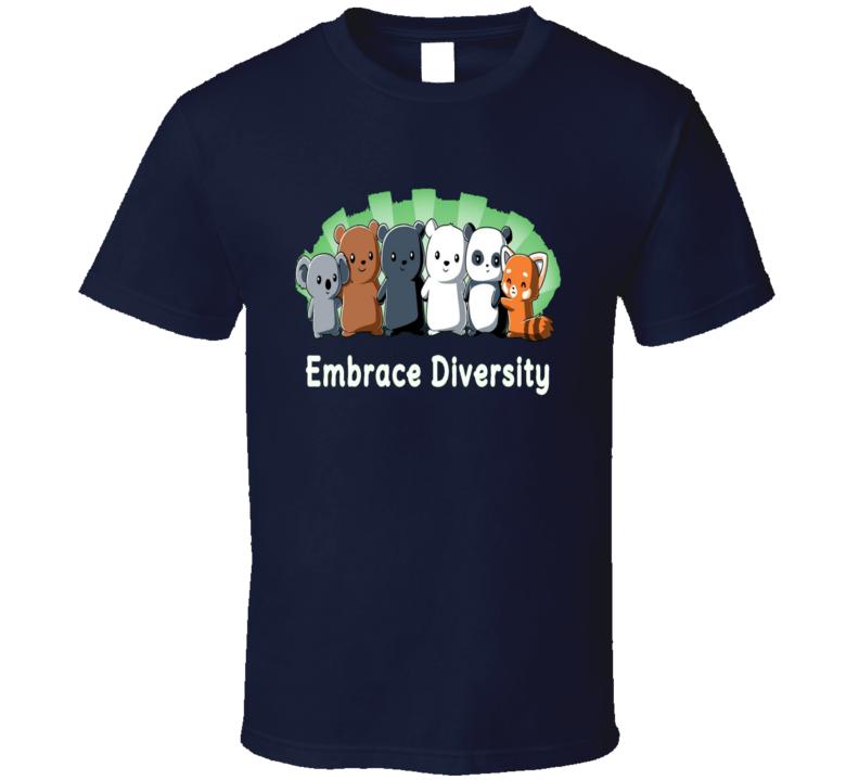 Embrace Diversity Animals Friends Group  T Shirt