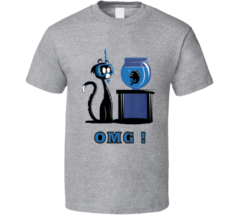 Extreme Diving Cat Fish Omg  T Shirt