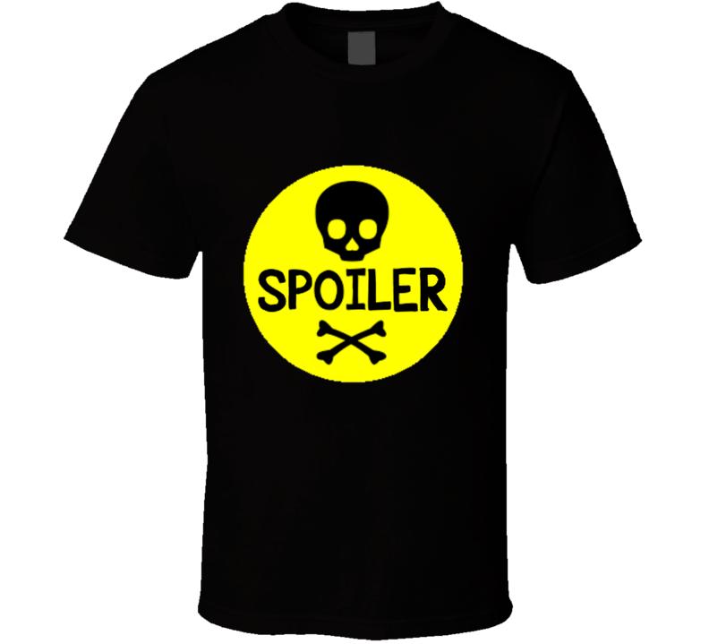Spoiler Skull Horror T Shirt