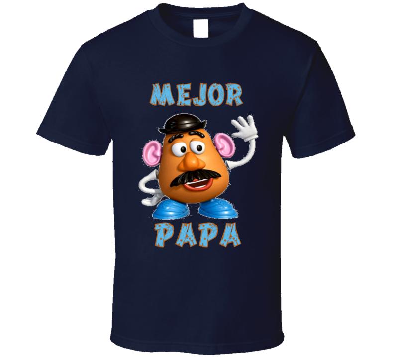Mejor Papa Padre Mr Potato Toy Story T Shirt