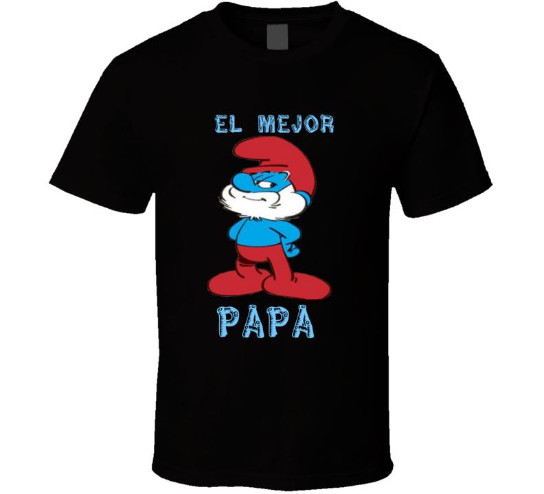 El Mejor Papà Papà Pitufo Los Pitufos T Shirt