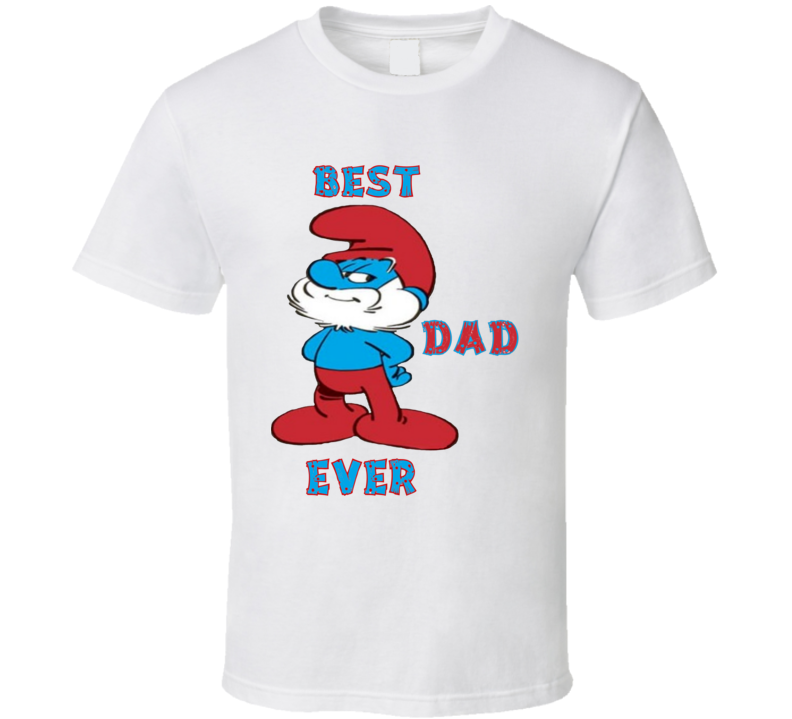 Best Dad Ever Papà Pitufo Smurf Daddy Father Padre T Shirt