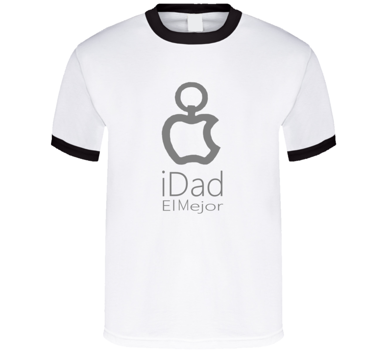 I Dad el Mejor Papà Padre Father Day Apple  T Shirt