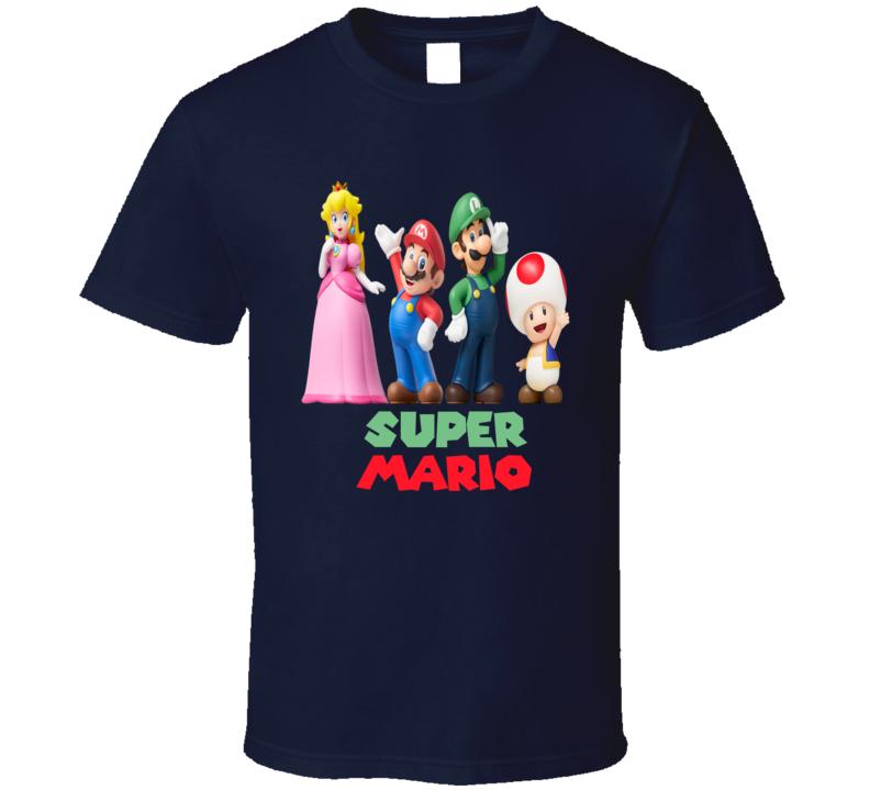 Super Mario Bross Luigi Video Game T Shirt