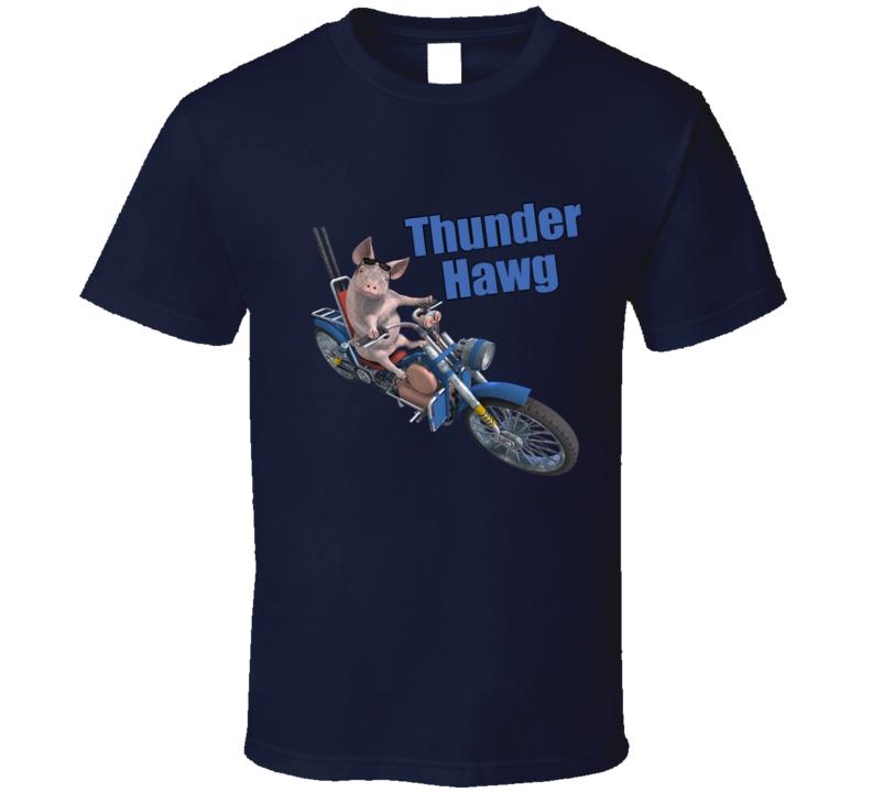 Thunder Hawg Motorcycle Rider Pig T Shirt