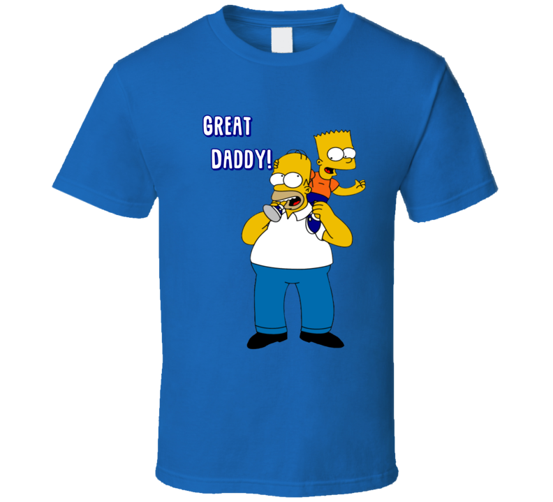 Great Daddy Homer Bart Simpson Father Day T Shirt