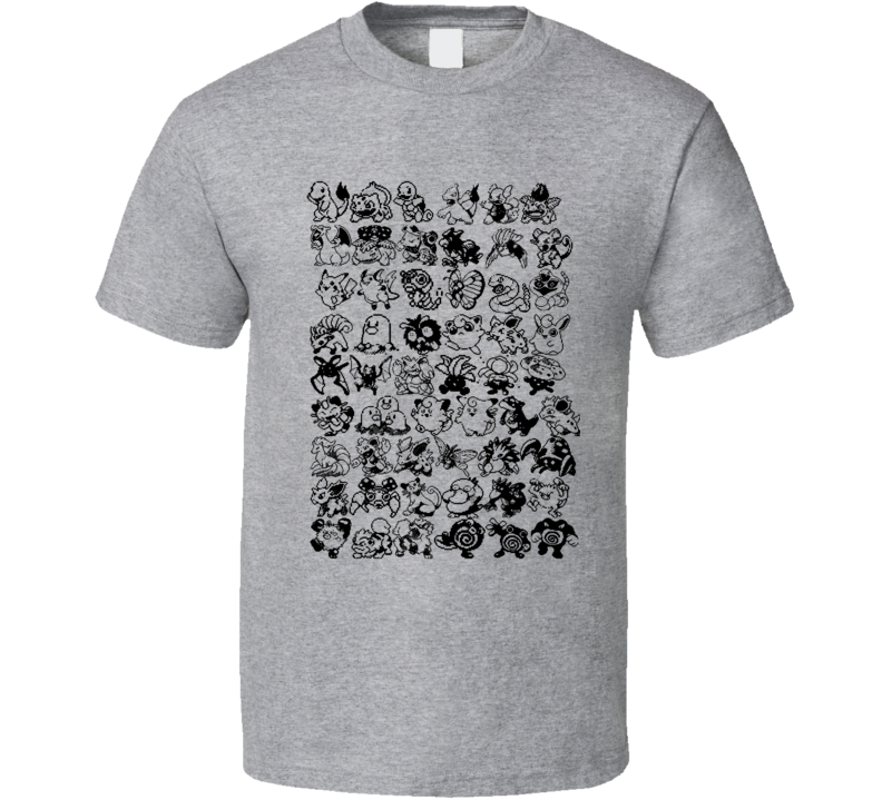 Pokemon Generation one 1 Pixel T Shirt