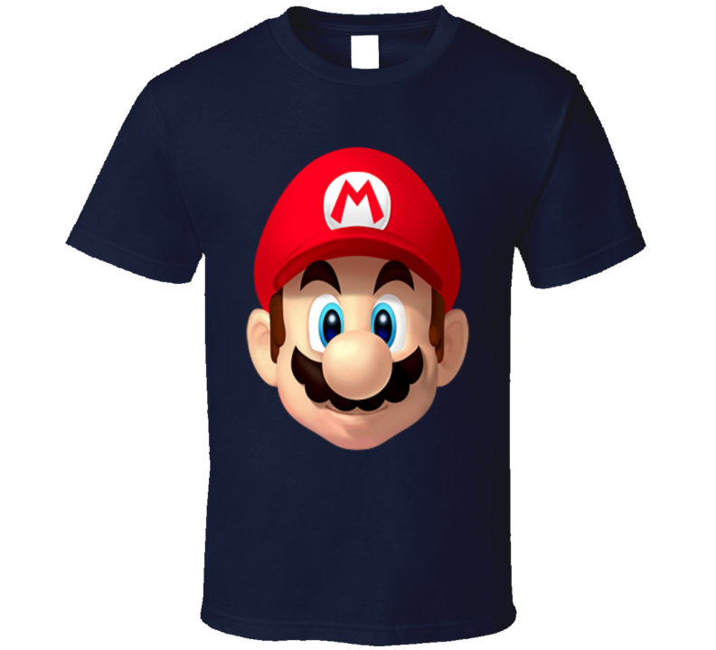 Mario Bros Face Video Game T Shirt