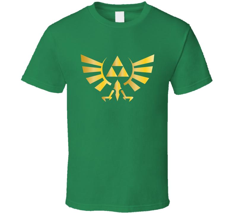 The Legend Of Zelda Golden Triforce Link Zelda Hyrule Video Game T Shirt