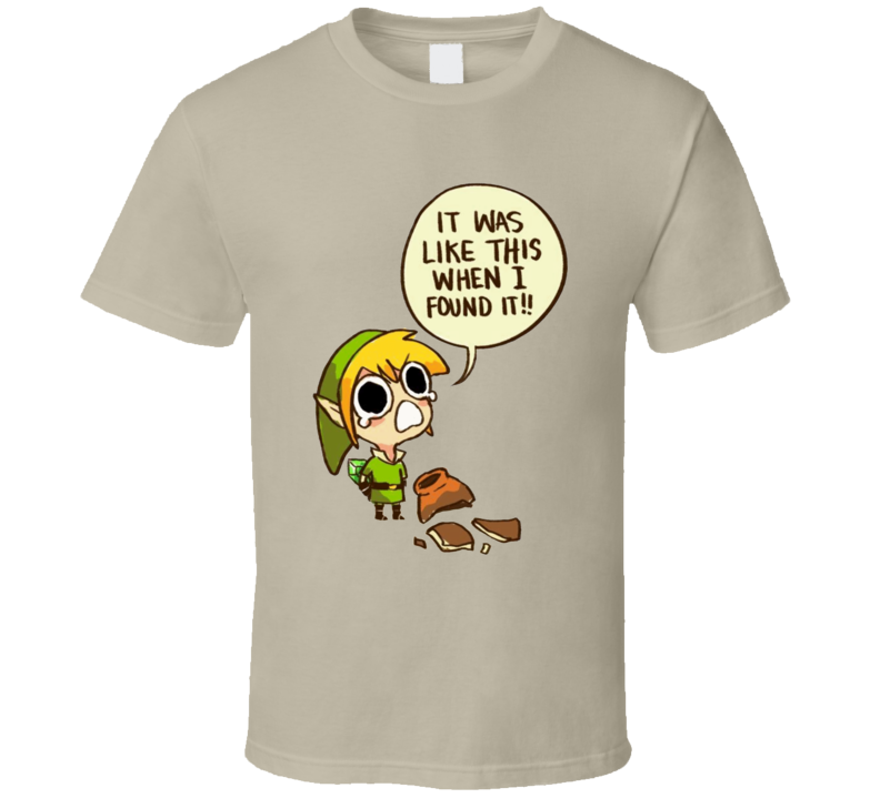 The Legend Of Zelda Link Breaks Pots Video Game T Shirt