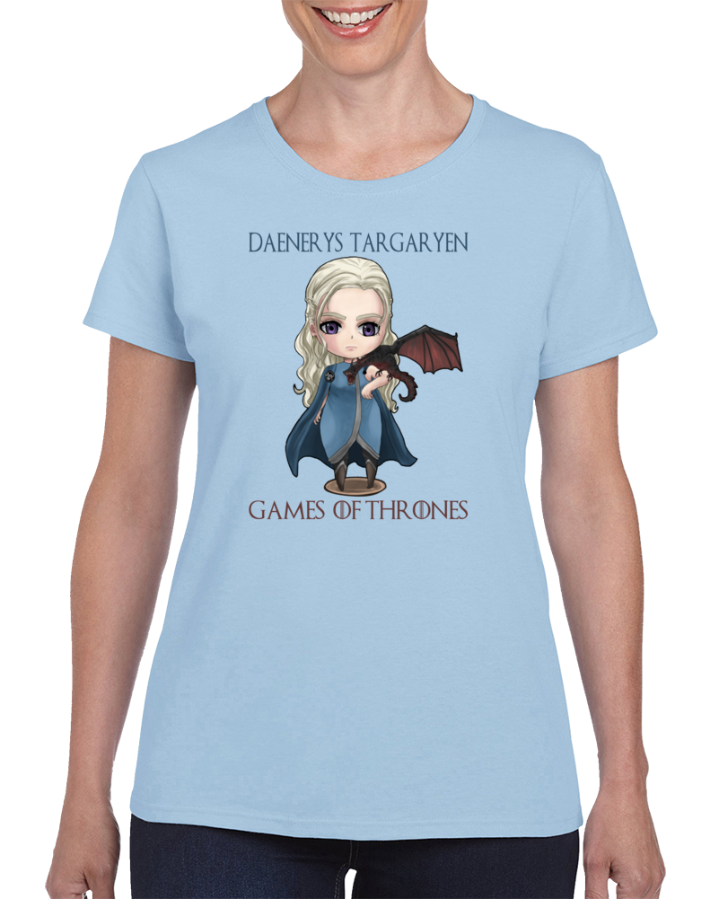 Daenerys Targaryen Game Of Thrones Mother Of Dragons Cartoon T Shirt