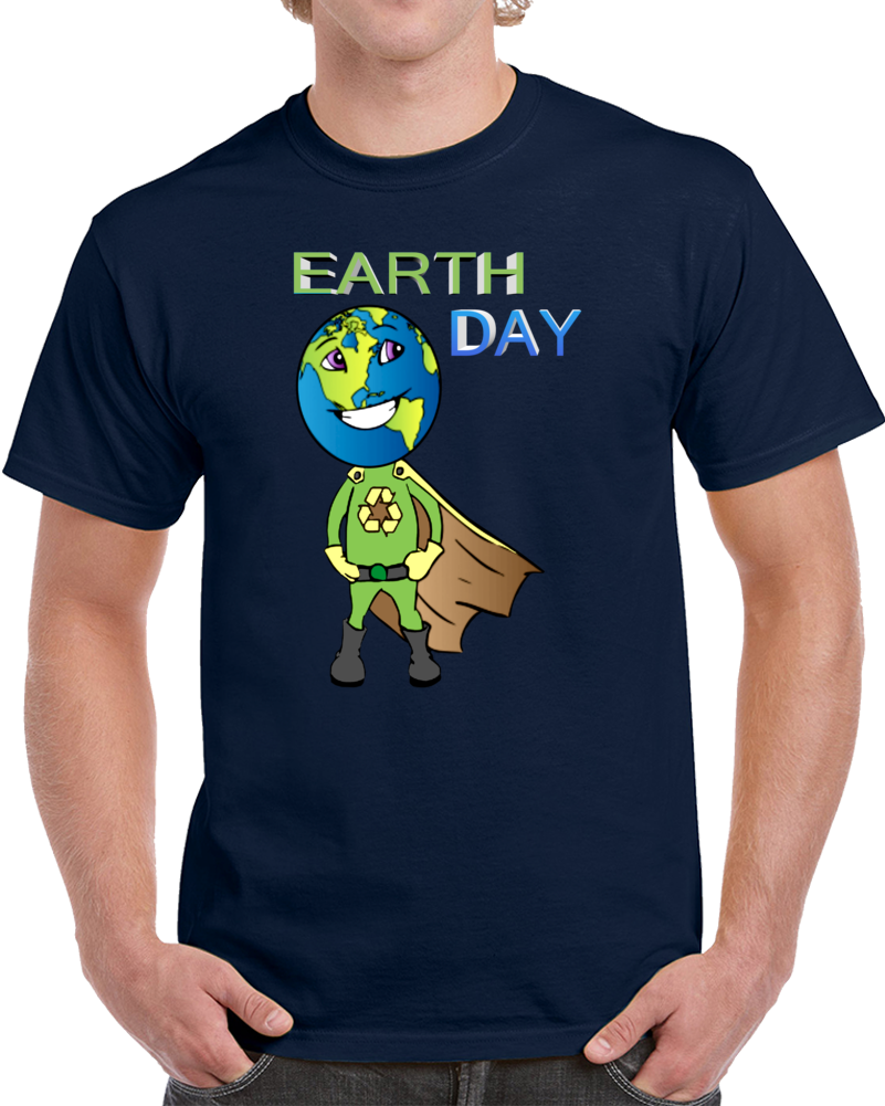 Earth Day Super Hero  T Shirt