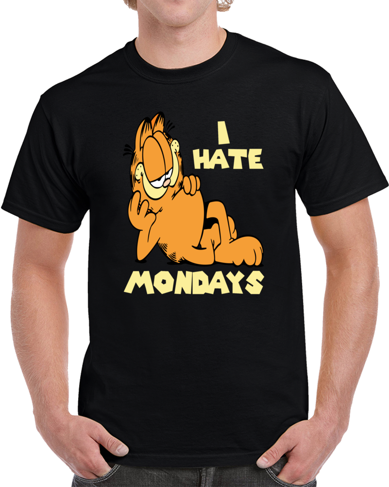 I Hate Mondays Garfield The Cat  T Shirt