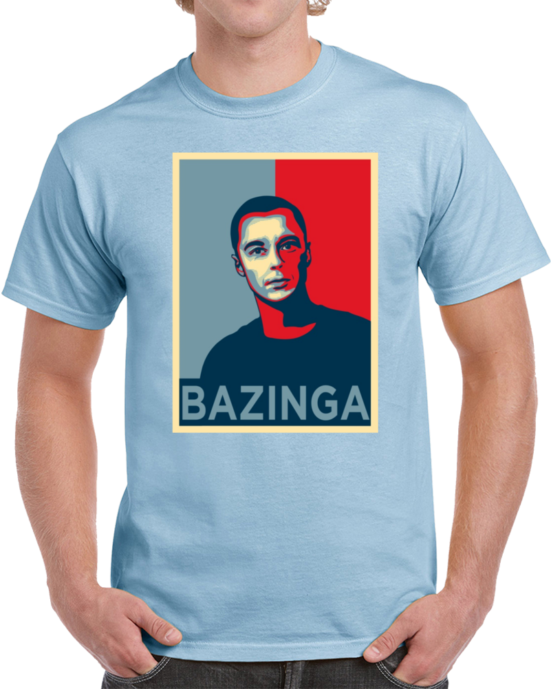 Bazinga Sheldon Cooper Big Bang Theory T Shirt