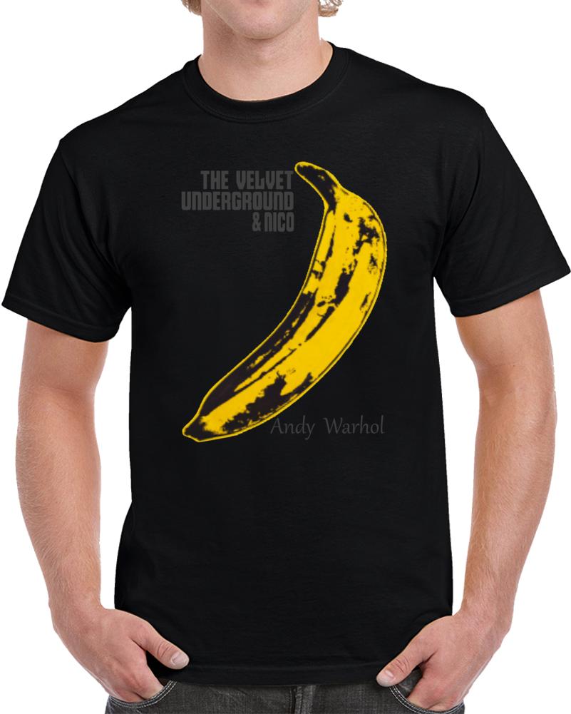 The Velvet Underground & Nico Andy Warhol Banana Platano  T Shirt