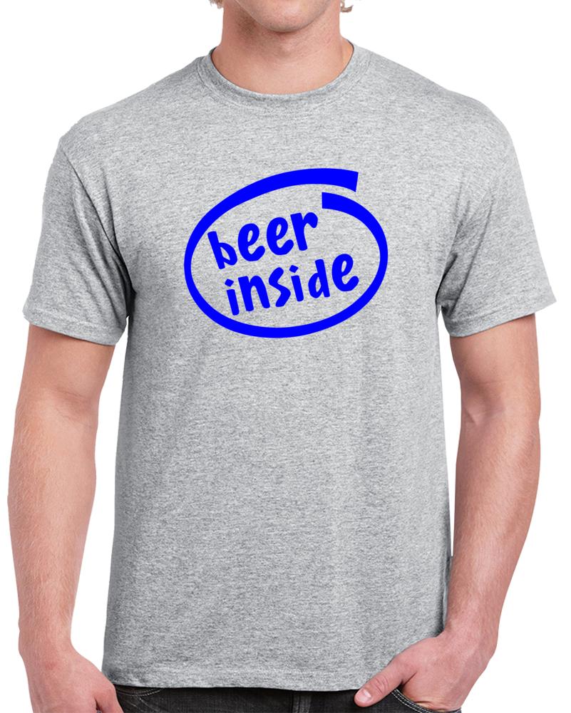Beer Inside Intel Logo T Shirt