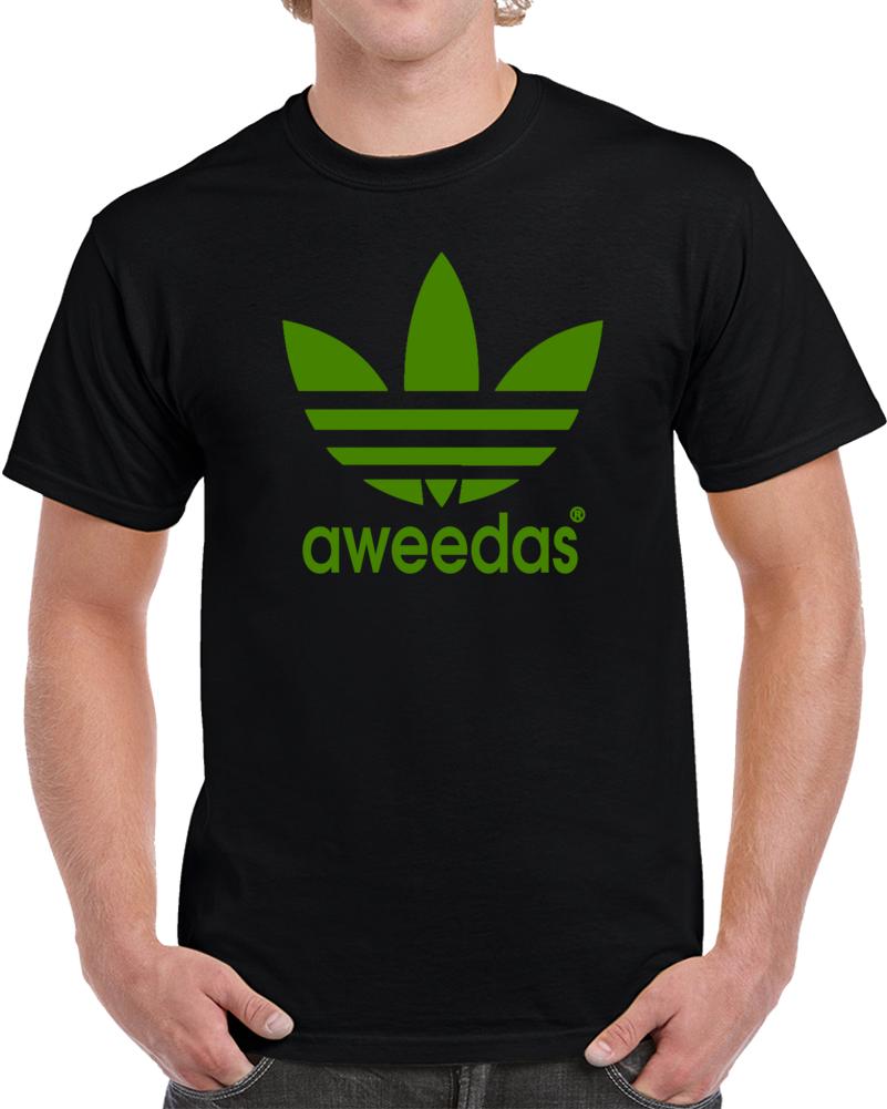 Aweedas Weed Marijuana   T Shirt