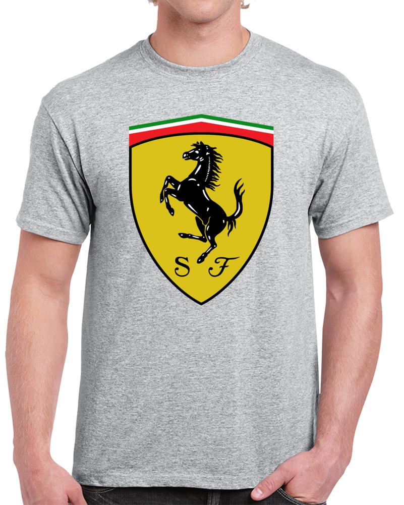Ferrari Sf Car Sports Ferrari Logo  T Shirt