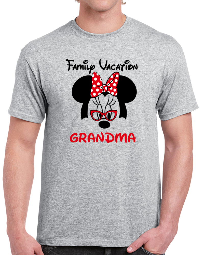 Disney Family Vacation Grandma  T Shirt