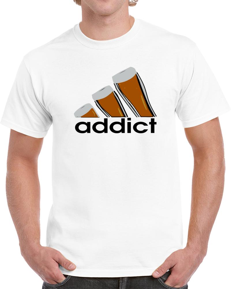 Shirt Logo Beer Drink Adidas Addict T Aj4c5L3Rq