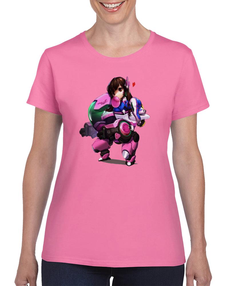 Overwatch Video Game Character Dva D.va Cute  T Shirt