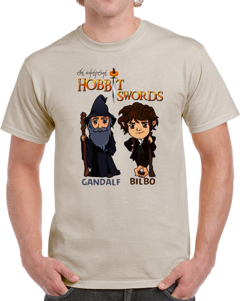 Hobbit Swords Gandalf Bilbo  T Shirt