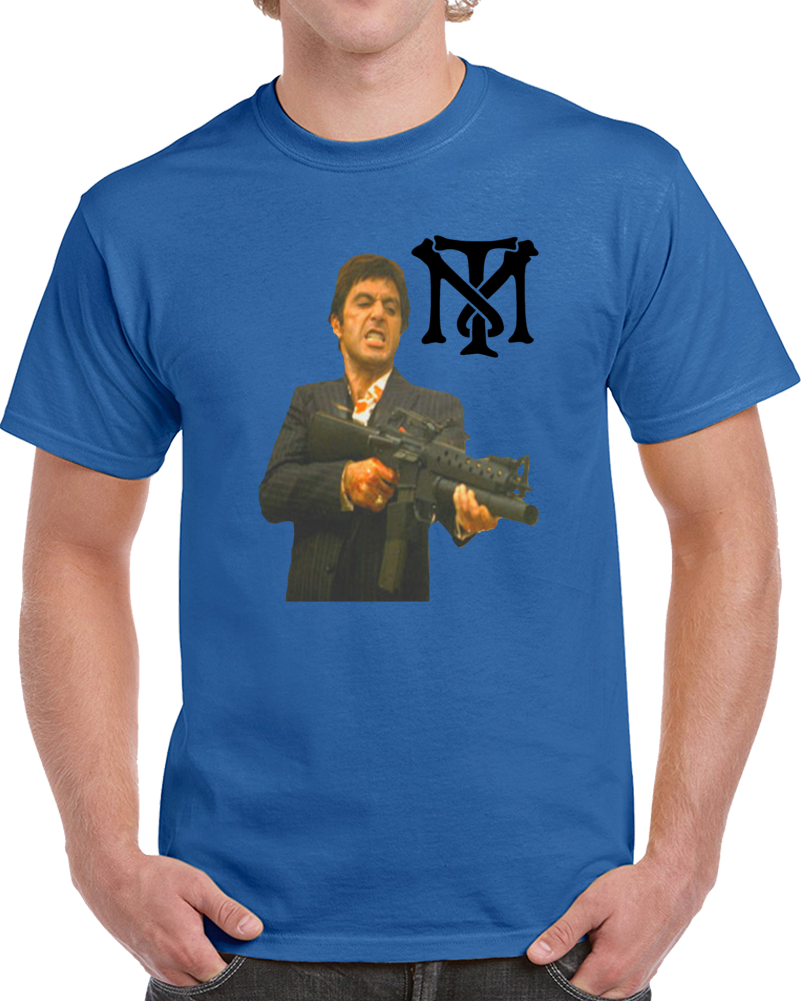 Tony Montana Scarface  Cara Cortada  T Shirt