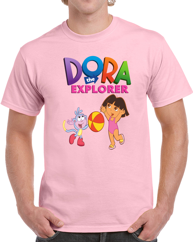 Dora The Explorer In The Beach  T Shirt