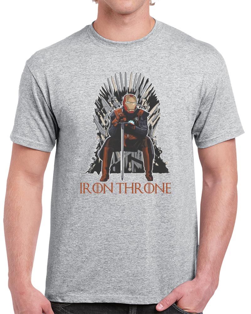 Game Of Thrones Iron Throne Iron Man Tony Stark   T Shirt