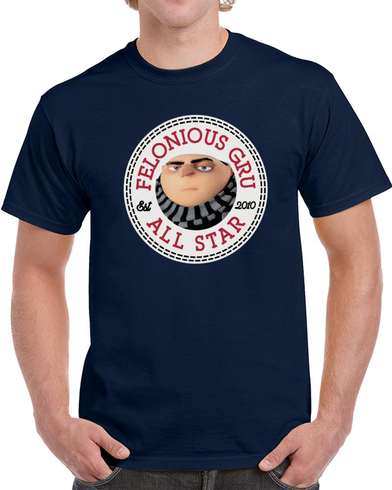 Felonious Gru All Star Despicable Me  T Shirt