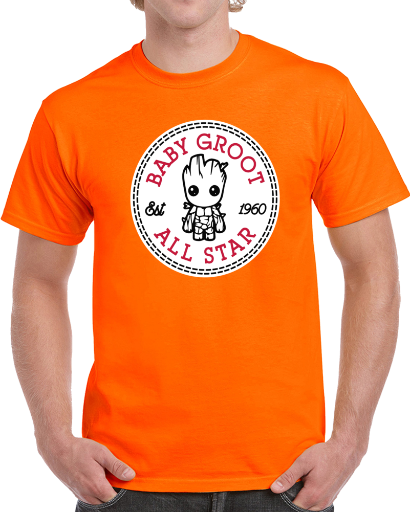 Baby Groot All Star Est 1960 Guardians Of The Galaxy  T Shirt