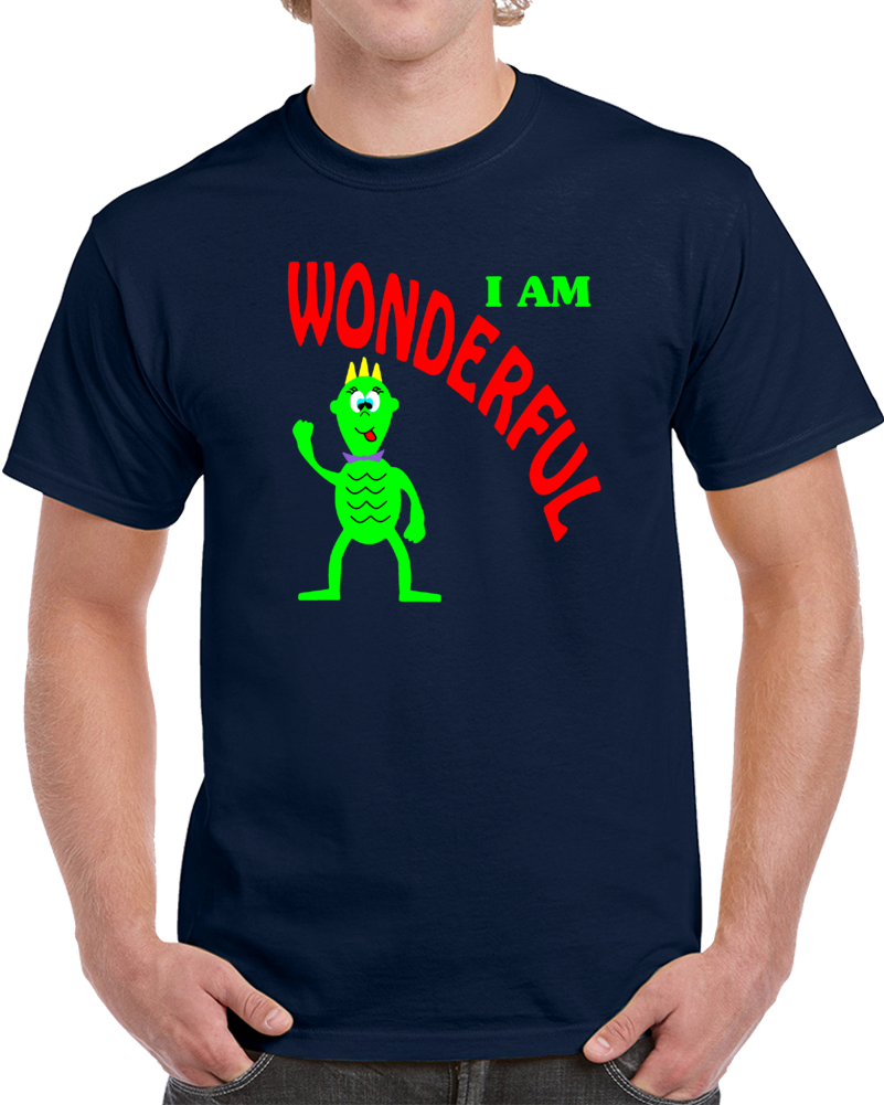 I Am Wonderful Cartoon   T Shirt